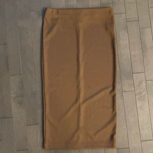 Forever 21 Contemporary Brown Pencil Skirt